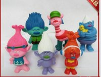Wholesale Trolls cm PVC Action Figures Toys For Kids Christmas Gift set