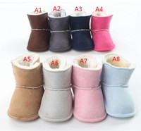 Wholesale Candy color baby soft soled shoes children winter toddler boots CM CM CM BB warm cotton boots pair B7