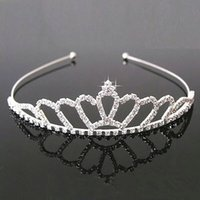Wholesale The bride wedding diamond jewelry red hair yarn shows little Princess Wedding Tiara Comb crown