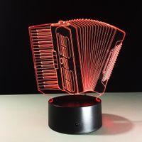 accordion keyboard - 2016 accordion D Optical Illusion Lamp Night Light DC V USB Charging AA Battery Dropshipping