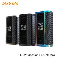piles tc achat en gros de-Authentique iJoy Capitaine PD270 234W TC Box Mod Fit pour 20700 Batterie Haute Ampère VS Tesla Nano 120W