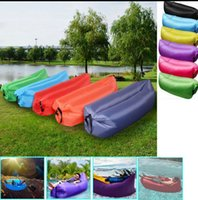 Wholesale Fast Inflatable Camping Sofa banana Sleeping Lazy Chair Bag Hangout Air Beach Bed chair Couch Sleeping Bag T D LJJK656