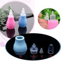 Wholesale Silicone Baby Safety Nose Cleaner Vacuum Suction Children Nasal Aspirator New Baby Care Diagnostic tool Vacuum Sucker Pc