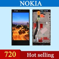 Wholesale High quality AAA LCD nokia n720 LCD touch screen digital converter with frame black factory