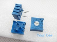 Wholesale k Potentiometer Precision Horizontal Adjustable Resistor P Multiturn Trimmer Variable Resistance KR ohm