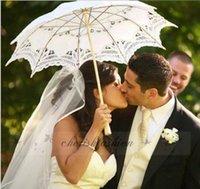 Wholesale DHL Fedex Free New Lace Umbrella Cotton Embroidery Wooden handle Lace Parasol Umbrella Bridal Wedding Umbrella Decorations L78 Z B
