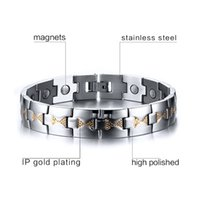 Wholesale 2016 New Simple Fashion Bracelet Stainless Steel Magnet Health Bracelet Accessories