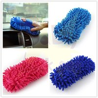Wholesale Household Cleaning Tools Accessories Cleaning Brushes Car Hand Soft Towel Microfiber Chenille Washing Gloves Coral Fleece Gloves Auto