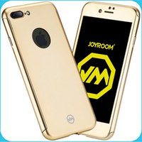 acrylic glass case - JOYROOM Iphone Case degree Full Cover Tempered Glass Acrylic Hard Case Cover For iPhone plus