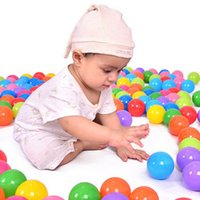 50pcs 100pcs Eco-Friendly Colorful Soft Plastic Pool OceanBall Baby Funny Toys Stress Air Ball Outdoor Fun Sports Jouer Pit Balls