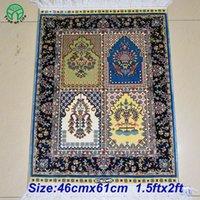 Wholesale 46cmx61cm ftx2ft chinese handmade spun silk carpet rugs for livingroom bedroom coffe table