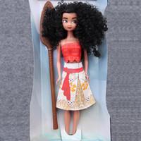 Wholesale Movie Moana Princess Doll Moana Adventure Action Figures Model Super Cute Toys Cartoon Anime Fashion Doll Gifts For Kids