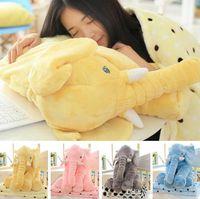 Wholesale 60cm Elephant Plush Pillow m Blankets Animal Stuffed Dolls Toys Sofa Bedding Throw Pillow Cushion Pillow Blanket PPA736