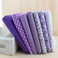 Sewing Machine basic sewing tools - 7pieces cmx50cm purple series cotton fabric fat quarter bundle patchwork cotton quilting fabric Tilda cloth basic quality