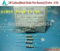 Venta al por mayor- (200pcs / lot) (carbono | Resistores de película de óxido de metal | 2W) Resistencia de película de óxido de metal de carbono de 5W del vatio 5W ohmio