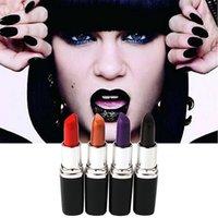 Wholesale 2017 New Top Quality Women s Waterproof Matte Lipstick Makeup Cosmetic Lip Stick Set Long Lasting Vampire Color DHL