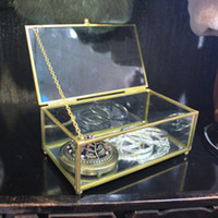 Wholesale small glass coppor jewelry boxes and packaging for necklaces jewelry box organizer storage jewelry display box ring Pendant lipstick makeup