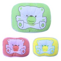 Wholesale Infant Bear Pattern Pillow Newborn Baby Support Cushion Pad Prevent Flat Head Shaping Pillow