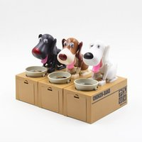 Wholesale Dog saving money box coin bank eat money dog Eating Dog Kids Coin Bank Saving Box New Choken Puppy