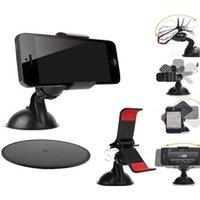 Car Holder Universal Soporte Soporte Soporte Cupule Negro para iPhone 6 5 5S 5C Sumsang Teléfono Inteligente PDS GPS Cámara Recoder