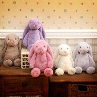 Wholesale 5 Color Kids cm INS Rabbit Creative Dolls Bunny Soft Plush Rabbit toys Cute Long Ears bunny Christmas valentine s day Gift toys B
