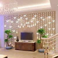 Wholesale M Modern Crystal Glass Waterdrop Curtain Window Curtains Modern Living Room Curtain Wedding Decoration Beads Screen