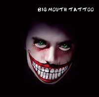 armed smile - HBM04 Horror Smile Creepy Crown Makeup Gothic Temporary Tattoo for Makeup Party Body Sticker