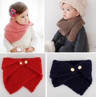 Wholesale Children Autumn Winter Warm Scarf Children Baby Boy Girls Knitted Kids Candy Warm Neck Scarf Shawl