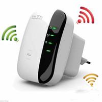 al por mayor los mejores enrutadores inalámbricos-Top Wireless WiFi Extender 300Mbps Repetidor Wi-Fi IEEE 802.11n b g Router de red Gama amplificador wifi Expander Envío rápido