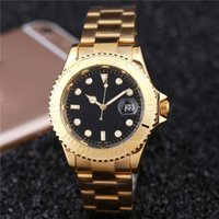 Luxury best business watches - New AAA Quality Business Men watches Luxury watch Calendar Stainless Steel Band Quartz Wristwatches For men role relojes clock Best Gift