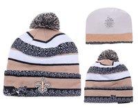 Cheap New winter Hot Saints Football New Orleans Beanies Football Beanies Knit Beanie Hats Warm Winter Caps Sports Team Hats free shipping