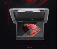 auto flip down monitor - 10 quot HD LCD Car Flip Down Monitor Overhead drop Auto Flip Down wide screen Monitor car video audio display for car camera dvd