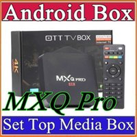 Wholesale 15X MXQPro Android TV Box Amlogic S905 Chipset Kodi Full Loaded Android Quad Core G G Google Streaming Media Players MXQ Pro D TH