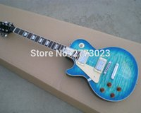 big blue guitar - Exquisite backhand left handed Big blue The guitar Can be produced in accordance with the requirements
