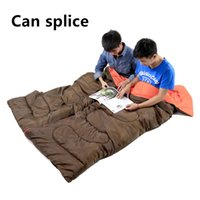 Wholesale Outdoor adult autumn and winter envelope thickening lengthened warm cotton indoor camping camping sleeping bag