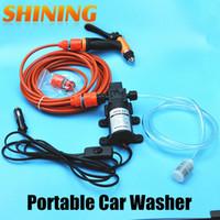 achat en gros de car wash machine-Vente en gros - 12V Power Car Electric 60W Pompe haute pression Car Washer Pompe de lavage de voiture portable Machine à laver Pompe de jardin Lavador de coches
