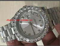 Precio de Esfera blanca para hombre de los relojes automáticos-Relojes De Lujo Hombres De Acero Inoxidable De 36 mm Día De La Fecha 18K Presidente Diamante Blanco Dial Bisel Quickset 2YR Automático Reloj De Hombre Reloj
