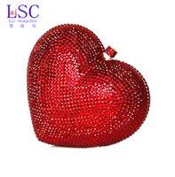 Grossiste-LaiSC sacs de luxe en cristal d'embrayage rouge coeur sac d'embrayage sac de luxe en cristal de luxe sacs femme sacs de mariage sacoche pochette SC010