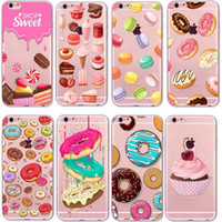 apple snacks - Sweet dessert pastry Candy snack Donuts Soft clear Case For iPhone S Plus S SE C s back cover