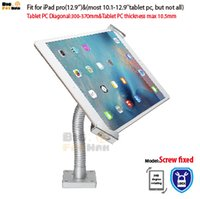 Wholesale tablet Security Gooseneck Tabletop Wall Mount holder anti theft bracket lock display stand for Samsung surface pro