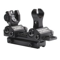 O-shape of rear ar buis - Metal Iron Flip Up BUIS Front and Rear Sight Folding Back up Battle Sights for mm Picatinny Weaver Rail AR M16 M4 RL27