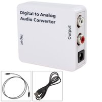 Adapter analog digital signal converter - Mini Digital Optical Coaxial Toslink Signal to Analog Audio Converter for either home or professional audio switching HMP_456