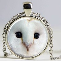 animal barn - Barn Owl Necklace Mystic Fantasy Jewelry Woodland Pendant Glass Dome Pendant Necklace