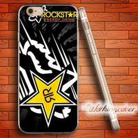 iphone racing al por mayor-Coque Fox Racing Rockstar suave claro TPU caso para el iPhone 6 6S 7 Plus 5S SE 5 5C 4S 4 caso cubierta de silicona.