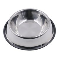 Wholesale Dogs Puppys Cats Stainless Feeders and Waterer Bowls Rubber Slip Resistant Base For Small Medium Large Dogs