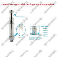 Wholesale 2016 new glass cbd atomizer metal o pen vaporizer co2 thc oil ceramic cartridge no fiber wick cbd vape ceramic wickless cartridge vaporizer