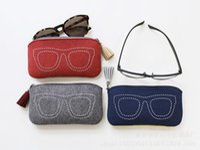 Wholesale New Style Sunglasses Cases Wool Felt Type Eyeglasses Bag Big Volume Many Colors Mixed cm Sunglasses Box