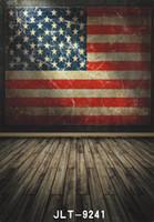 america flag photos - America flag wallpaper wooden floor photography background for wedding children baby computer printed vinyl backdrop for photo studio