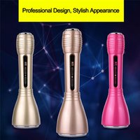Wholesale New Portable Karaoke Micropone K Song Wireless Microphone With Bluetooth Speaker Outdoor KTV in Combination Function