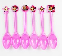 Wholesale pack Minnie Mouse Theme Party Favors Plastic Knives Forks Spoons for Kids Birthday Party Decoration Baby Shower Decoration